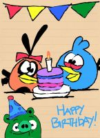 Happy Birthday To Me! by AngryBirdsStuff