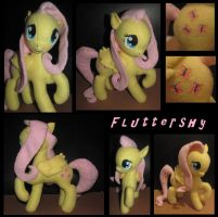 Fluttershy Plush -for sale- by CaffinatedHoneybutt