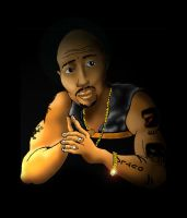 2Pac Posing by westacious