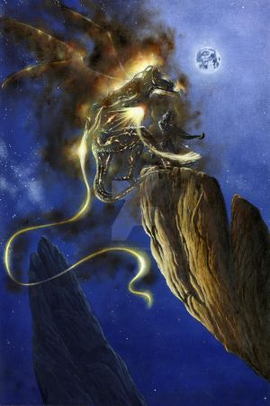 Glorfindel Duels a Balrog of Morgoth by KipRasmussen