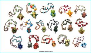 Dragon Collection 2013 - Charms with Necklace by buzhandmade