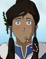 Holiday Korra by angstyporcupine