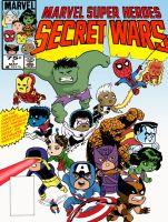 Secret Wars cover by Hensrw