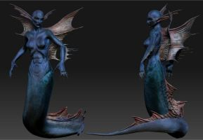 Female Merfolk by InsomiaInc
