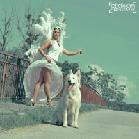 AUTOSTOP WITH DOG by cetrobo