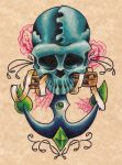 Anchor Skull by Damianink