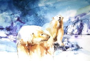 Polar Bear by Abstractmusiq
