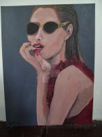 Cool Lady In Dark Sunglasses by Shannon-Gaspich-1981