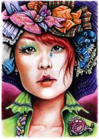 Dama del sombrero by WityWillow