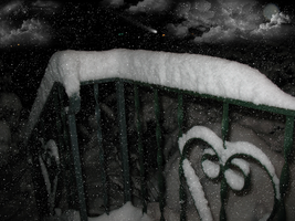 Snow Topped Railing Premade IMG 0472 by WDWParksGal-Stock