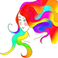 Another rainbow haired one by MCRmyEaterNida