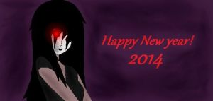 (CPOC) Black Rose: HAPPY NEW YEAR! by L0ra2