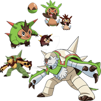650, 651 and 652 - Chespin Evolutionary Line by Tails19950