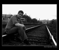 Me on railway vol.1 by H8me-CZ