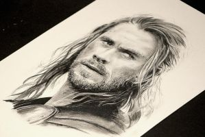 Chris Hemsworth as Thor by guy-who-does-art