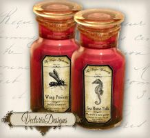 Magic Animals Apothecary Labels by VectoriaDesigns