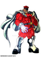 M. BISON-STREET FIGHTER (MARKER-COLOR) by MUERTITO69