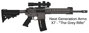 Next Generation Arms: X7 - 'The Grey Rifle' by Shockwave9001