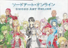 Sword Art Online All characters Drawing by VilkuPL