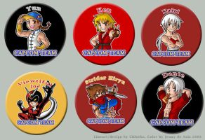Capcom Team Pins Set 2 by chloebs