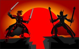 Justice and Chaos, CrimsonFace vs Master Shadow by CrimsonFace