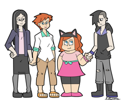 Dante and Chloe Family by ObsidianWolf7