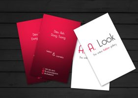 A. Look business card by staphylococcal