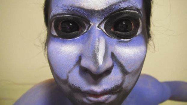 - Ao Oni - Makeup by KisaMake