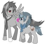 Ciel and Sebastian as my little pony by AngelofHapiness