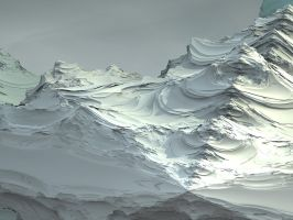 snowed mountains by batjorge