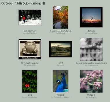 October 16th Submissions III by Optimal-Photo
