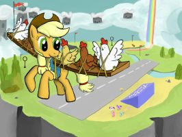 Applejack the Wonderbolt by WerdKcub