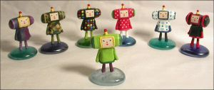 Katamari Damacy Figurines - 1 by Vamppy