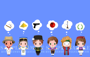 APH - card sticker set 6 by exwhy