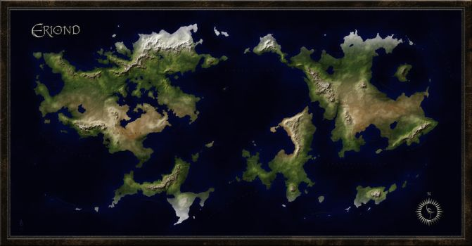 World Map of Eriond by arsheesh