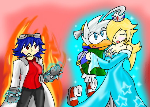 Rosalina and the Jons ~Commission~ by Xero-J
