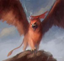 Great Griffin (Sketch) by AnthonyDevine by AnthonyDevine