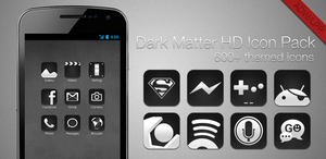 Dark Matter HD - ADW-LLP Icon pack by chrisbanks2