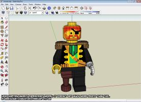 3D LEGO pirate captain WIP by ninjatoespapercraft