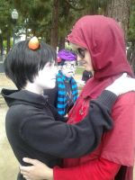 DaveKat with a disapproving Eridan by ritsukuze