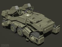 Spider Tank Raw Render by MikeDoscher