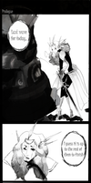 Leona and Pantheon - Prologue page 1 by RoseMariye