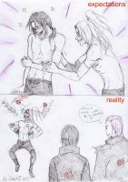 Itachi with Deidara having a tickle fight by Sanzo-Sinclaire