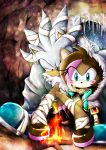 Sonic OC Venus and Silver by skyshek