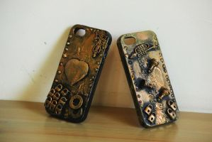 steampunk phone case! by Hot-cocoaX3