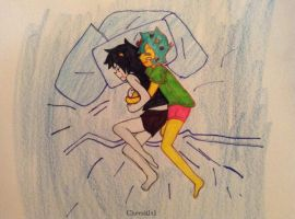 Tears while Spooning by Cheezit1x1