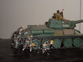 t34 with panzerjagers by SKEGGY