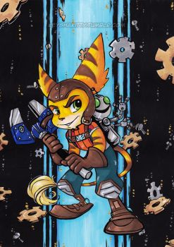Ratchet and Clank - Bday gift by KeyshaKitty