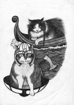 viking cats by gioveart