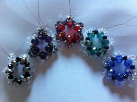 Crystal christmas decorations by AmyLou31
